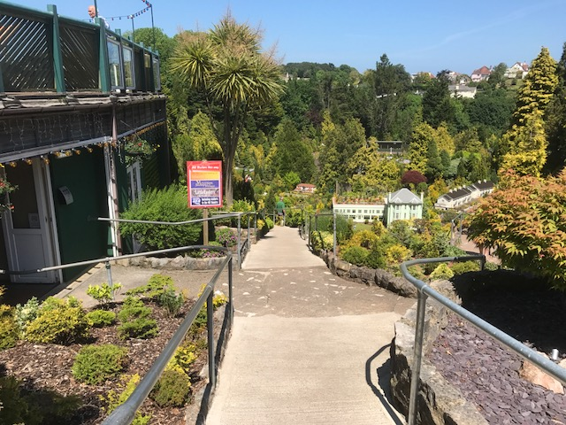 Steep slope entering the gardens (gradient up to 1in4)